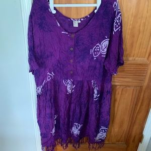 Beautiful purple swimsuit coverup/dress 3X